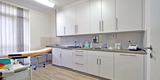 Raumprogramm für einer Arztpraxis und Praxisfläche